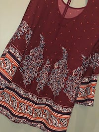 red and white floral long-sleeved dress Fort Wayne, 46814