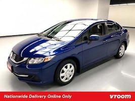 2014 Honda Civic Sedan Blue sedan