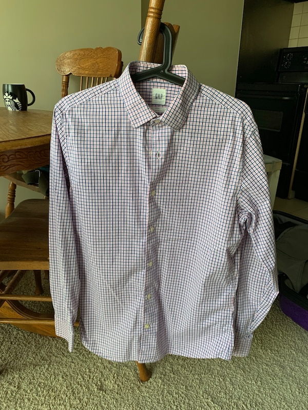 Gap Stretch Check Shirt Size S
