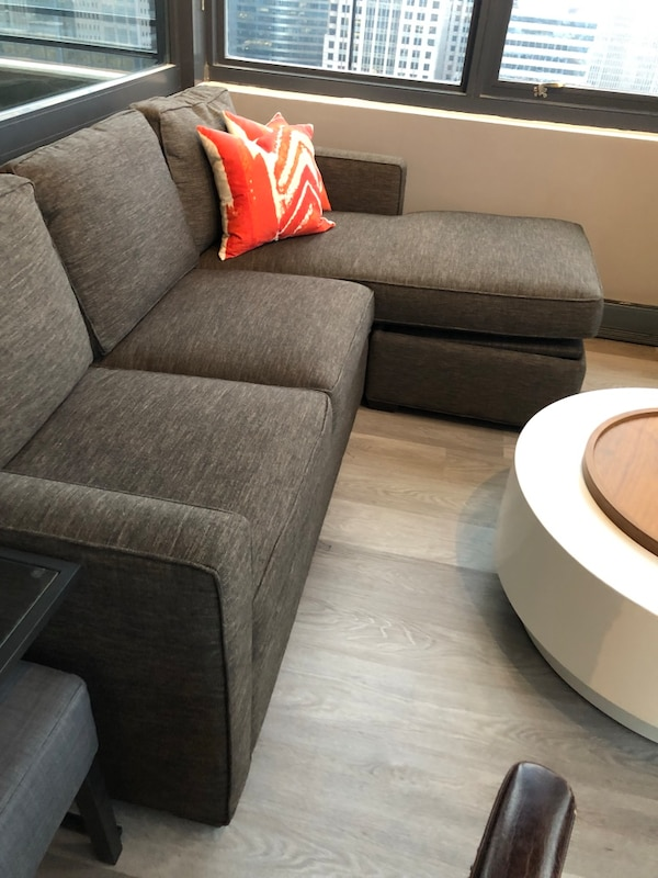 Crate Barrel Barrett Sectional Sofa Works Left Or Right