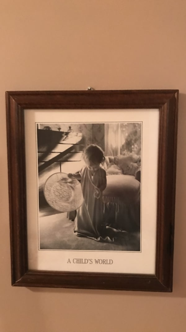 Adorable!!!!Matted Framed Picture of little girl playing dress up f62715a3-d7f1-4999-9e23-f43309060606