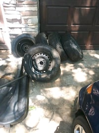 4 brand new tires with spare. Size 205/65 r15