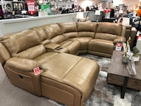 Leather sofa w/power recliner Calgary, T1Y 6C5