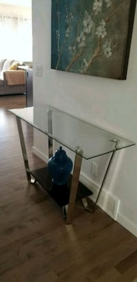 Beautiful glass top console table for sale. Division No. 6, T2X 0R3