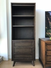 brown wooden 5-layer shelf Los Angeles, 90010