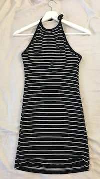 women's black and white stripes halter top dress Surrey, V3S 7H5