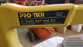 """Pro-Tech 16"""" Variable Speed Scroll Saw"""