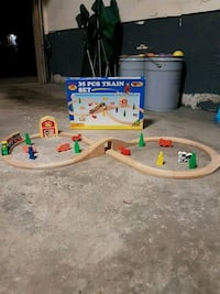 Wooden Toy Trainset