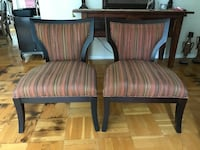 two brown wooden framed padded armchairs Glenview, 60026