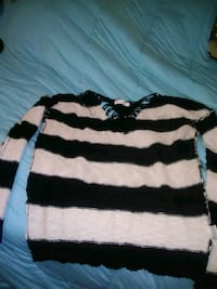 black and white striped long-sleeved shirt Bristol, 24202