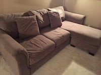 Large brown microfiber sectional couch and chair Alexandria, 22304