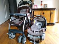 baby's gray and black travel system Silver Spring, 20901