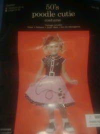 Girls Toddler Sz 3/4 50's Poodle Cutie Halloween Costume