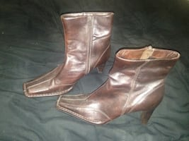 Ankle Heel leather boots