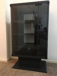 Elegant Glass Display Cabinet - 3 Compartments with Side Storage Carrollton, 75007