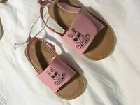 pair of brown-and-white leather sandals Surrey, V3W 3V5