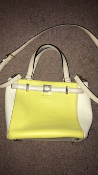 brand new kate spade yellow and off white tote