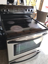 Black and gray electric range