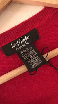 red Lord & Taylor Cashmere apparel Surrey, V4N 1A7