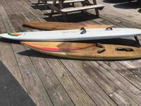 Two hurricane one obrien windsurf boards.