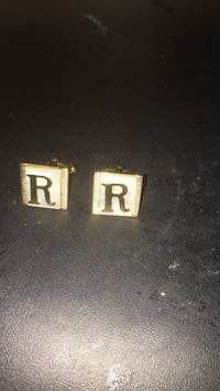 Cuff links letter R Bay Wood, 11706