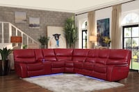 Power reclining sectional with led light  Elgin
