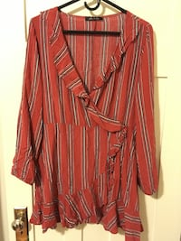Red Striped Dress / Top Vancouver, V6G 2C9