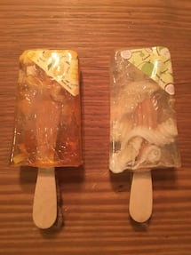 A Set of Hand Made Mango & Coconut Popsicles Soap