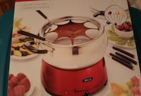 red and white fondue set box Vaughan