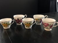 5 Fine Bone China cups – Regency, Vale, Claire  Milton