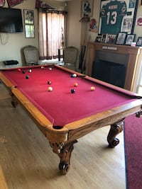 brown and red billiard table Fountain Valley, 92708