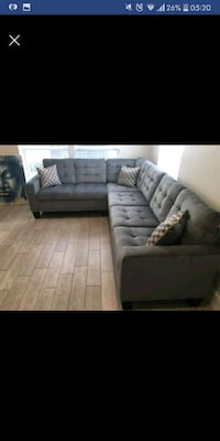 New Grey Sectional Austin