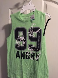 green and black 99 Angry printed tank top boys