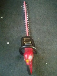 red and black hedge trimmer 1627 mi