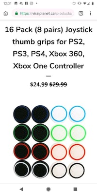 Thumb grips pack of 8 all colours Brossard, J4Y 0C4
