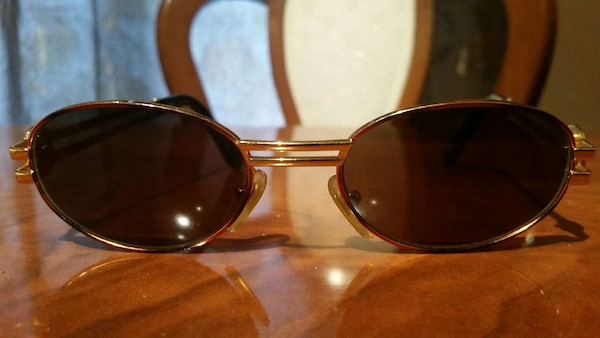 a472d0ae453 Used Vintage GIANNI VERSACE round gold sunglasses rare for sale in ...