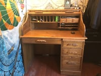 brown wooden roll-top desk Goleta, 93117