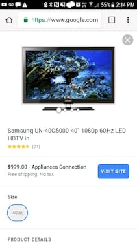 Samsung hdtv tv Dallas, 75214