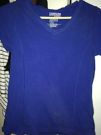 blue Danskin V-neck cap sleeve T-shirt Mission Viejo, 92691