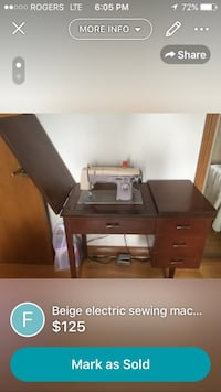 brown wooden desk with hutch Toronto, M3H 4R4