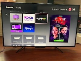 Lg Roku tv  55 inches in good condition
