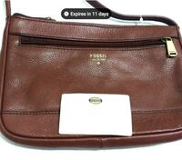 Authentic Fossil Durable Leather Bag (Like New) - $123 Value Toronto