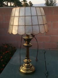 Brass light with shell shade Montclair, 91763