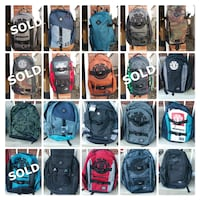 Backpack Sample Sale - (New) 50% off retail. Whitby, L1M 2K3