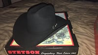 Stetson black cowboy hat mint condition comes with box size is 7 5/8 Midland, 79706