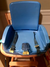 baby's blue and brown highchair Chelsea, 35043