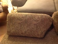 Green and paisley sofa and love seat