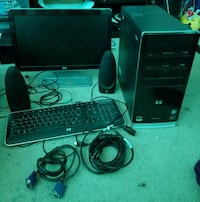 HP Pavillon Desktop computer set with desktop, mon Manassas, 20109