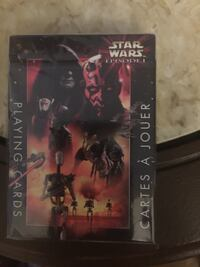"Official star wars ""episode 1"" playing cards. package is sealed,"" may the force be with you"""