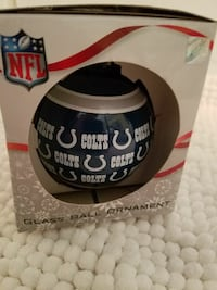Colts NFL Glass Ball Ornament Indianapolis, 46237